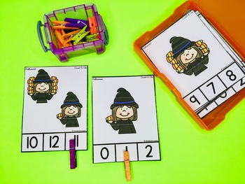 Count and Clip Cards - Halloween