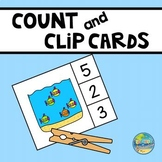 Count and Clip Cards- Submarines
