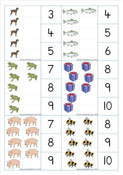 Count and Clip Cards to 10