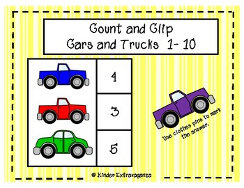 Count and Clip Cars and Trucks