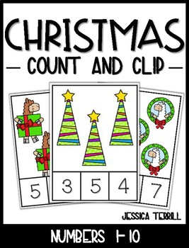 Count and Clip: Christmas