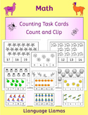 Count and Clip - Kinder Counting task cards with cute graphics