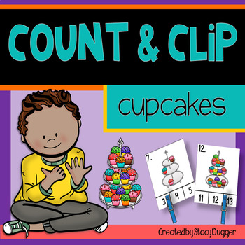 Count and Clip Cupcakes