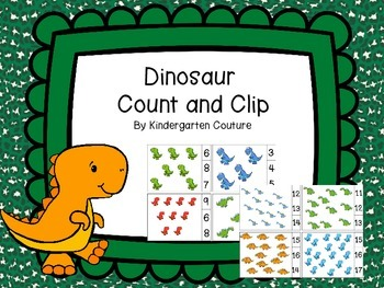 Count and Clip Dinosaur Theme