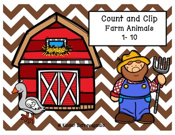 Count and Clip Farm Animals