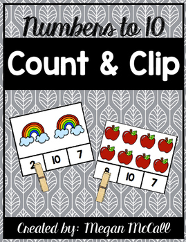 Count and Clip Freebie-Numbers to 10