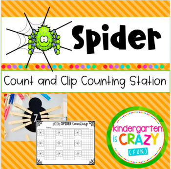 Count and Clip Halloween Spider Counting Station