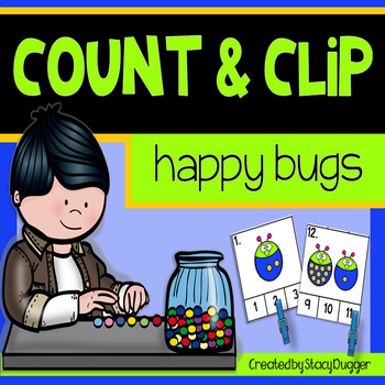 Count and Clip - Happy Bugs