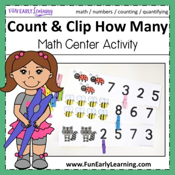Count and Clip How Many - Hands-on Math Activity {Common Core and RTI}