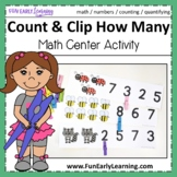 Count and Clip How Many - Fun Math Activity