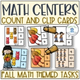 Count and Clip It Cards to 10 Fall Theme