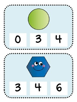 Count and Clip (Kindergarten Geometry Activity, K.G.4)
