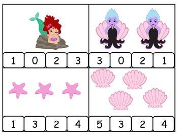 Count and Clip Mermaid Princess