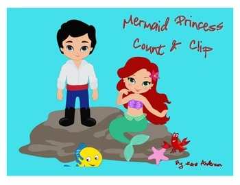 Count and Clip Mermaid Princess