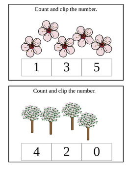 Count and Clip (Numbers 1-5)