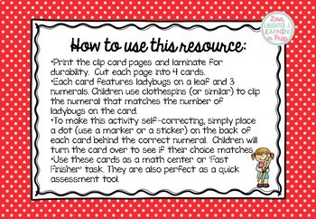 Count and Clip! Numerals 0-10