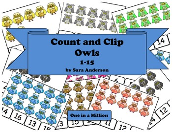 Count and Clip Owls