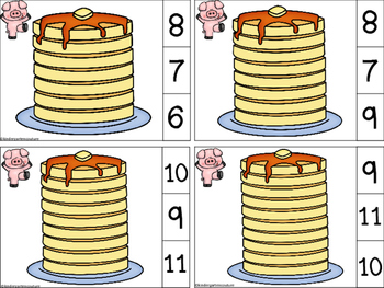 Count and Clip Pancakes