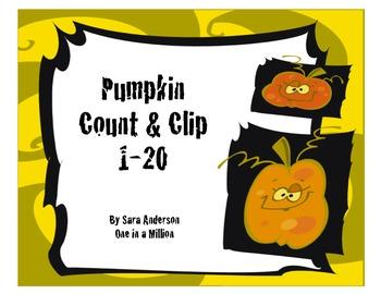 Count and Clip Pumpkins
