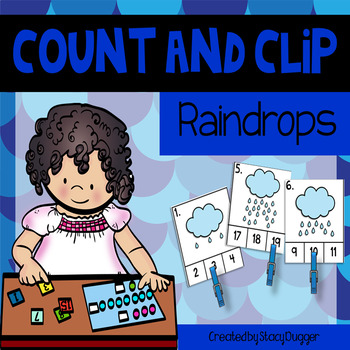 Count and Clip - Raindrops
