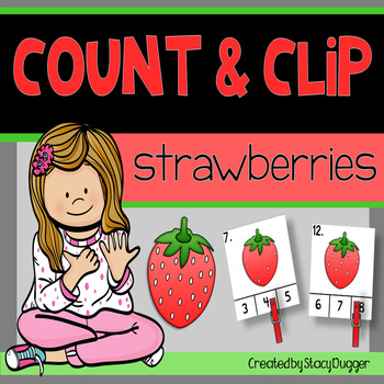 Count and Clip - Strawberries