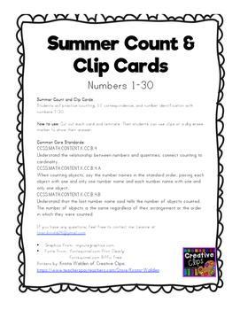 Count and Clip- Summer