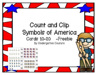 Count and Clip Symbols Of America