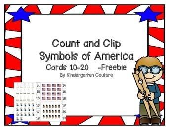 Count and Clip Symbols Of America