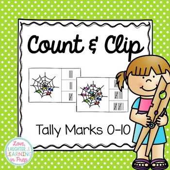 Numbers 0-10 Clip Cards {Tally Marks Count & Clip}