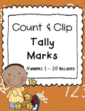 Count and Clip - Tally Marks - Math Center