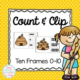 Numbers 0-10 Clip Cards {Ten Frames Count & Clip}