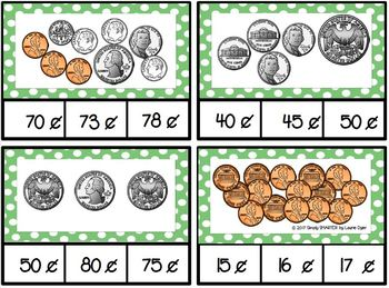 Count and Clip U.S. Coins:  Low Prep Clip Cards
