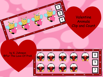 Count and Clip Valentine Animals