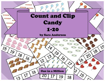 Count and Clip Valentine Candy