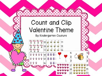 Count and Clip Valentine Theme