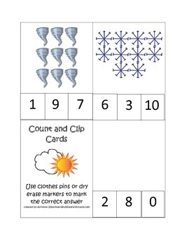 Count and Clip Wild About Weather