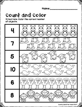 Count and Color: 1-20