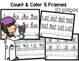 Count and Color 5 Frames