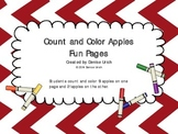 Count and Color Apples Fun Pages