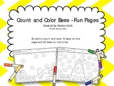 Count and Color Bees - Fun Pages
