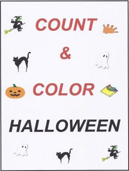 Count and Color Halloween