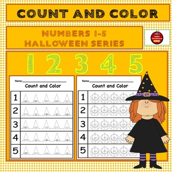 Count and Color Halloween 1-5
