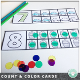 Count and Color Number Cards 1-10