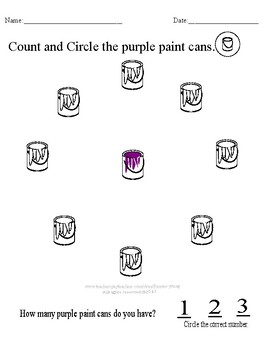 Count and Color Paint Cans