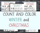 Count and Color - Winter and Christmas