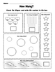 Count and Color Worksheets - One to Ten - Common Core State Standards - Grade K