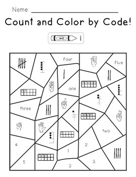 Count and Color by Code 1-10
