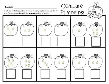 Count and Compare Pumpkin Seeds
