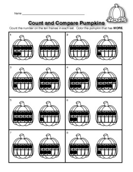Count and Compare Pumpkins
