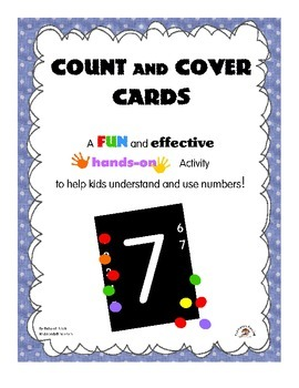Count and Cover Cards: Help Kids Count from 1 to 20